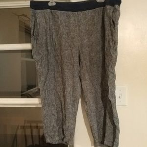 Woman Within gray capris. Size 24W. Good cond.